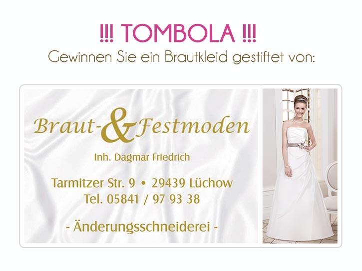 Brautkleid zu gewinnen auf der Hochzeitsmesse Salzwedel 24. Januar 2016
