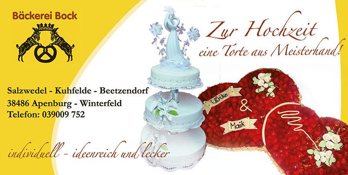 Bäckerei Bock Hochzeitsmesse Salzwedel 22. Januar 2017 Kulturhaus Salzwedel