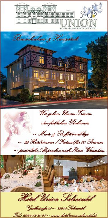 Hotel Union Hochzeitsmesse Salzwedel 22. Januar 2017 Kulturhaus
